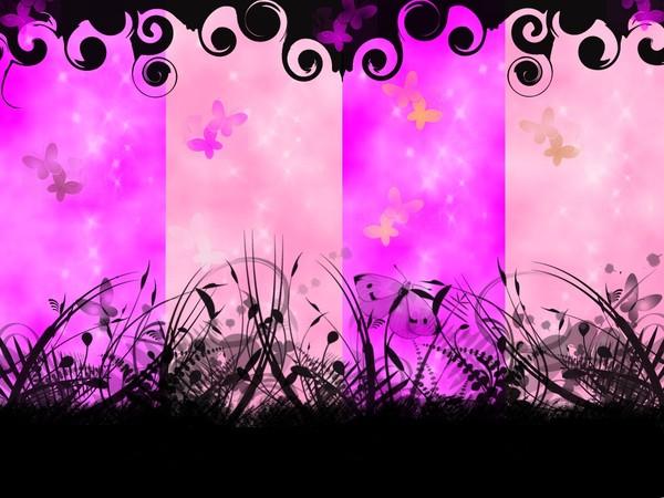 Fond ecran papillons for Fond ecran rose